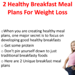 Meal Ideas For A Healthy Diet